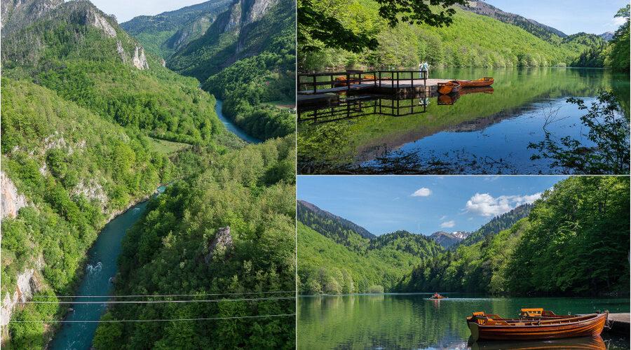 Tara-joki ja Biogradsko-järvi.
