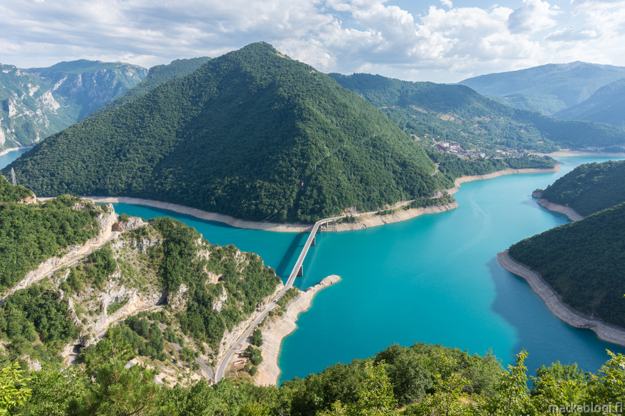 Tara-joki, Durmitor ja Piva-järvi, Montenegro