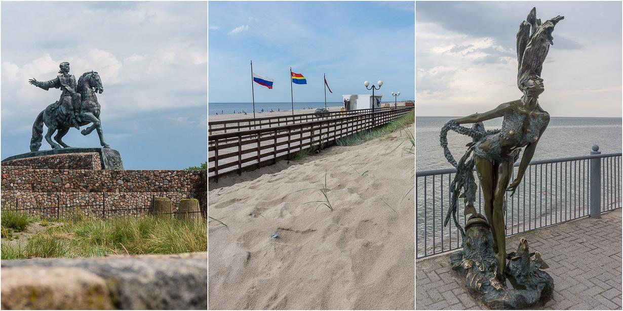 Kaliningradin rannikon Baltijsk, Jantarnyi ja Svetlogorsk