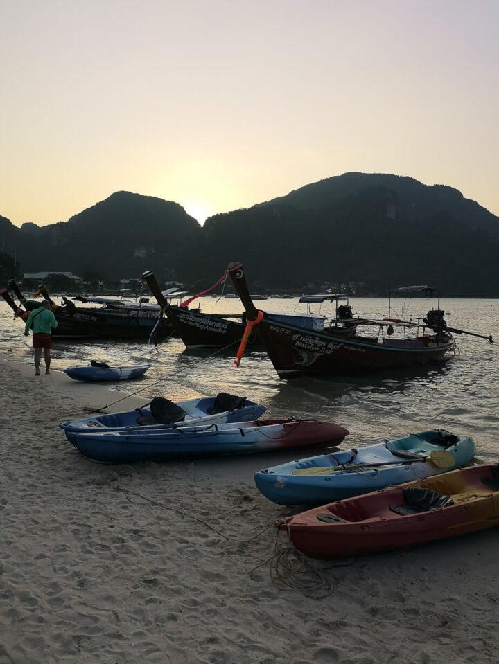 Koh Phi Phi, auringonlasku