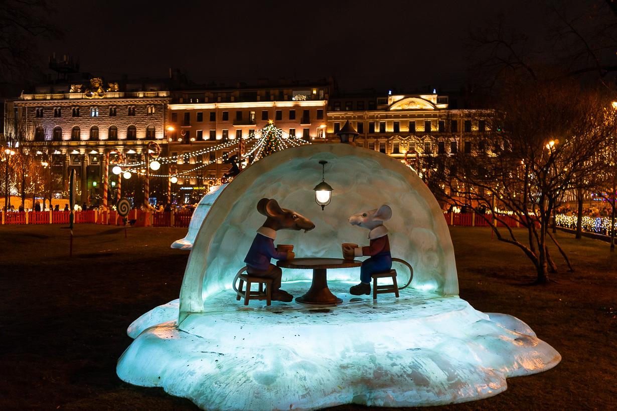 Rottia Pietarin joulumarkkinoilla 2019-2020