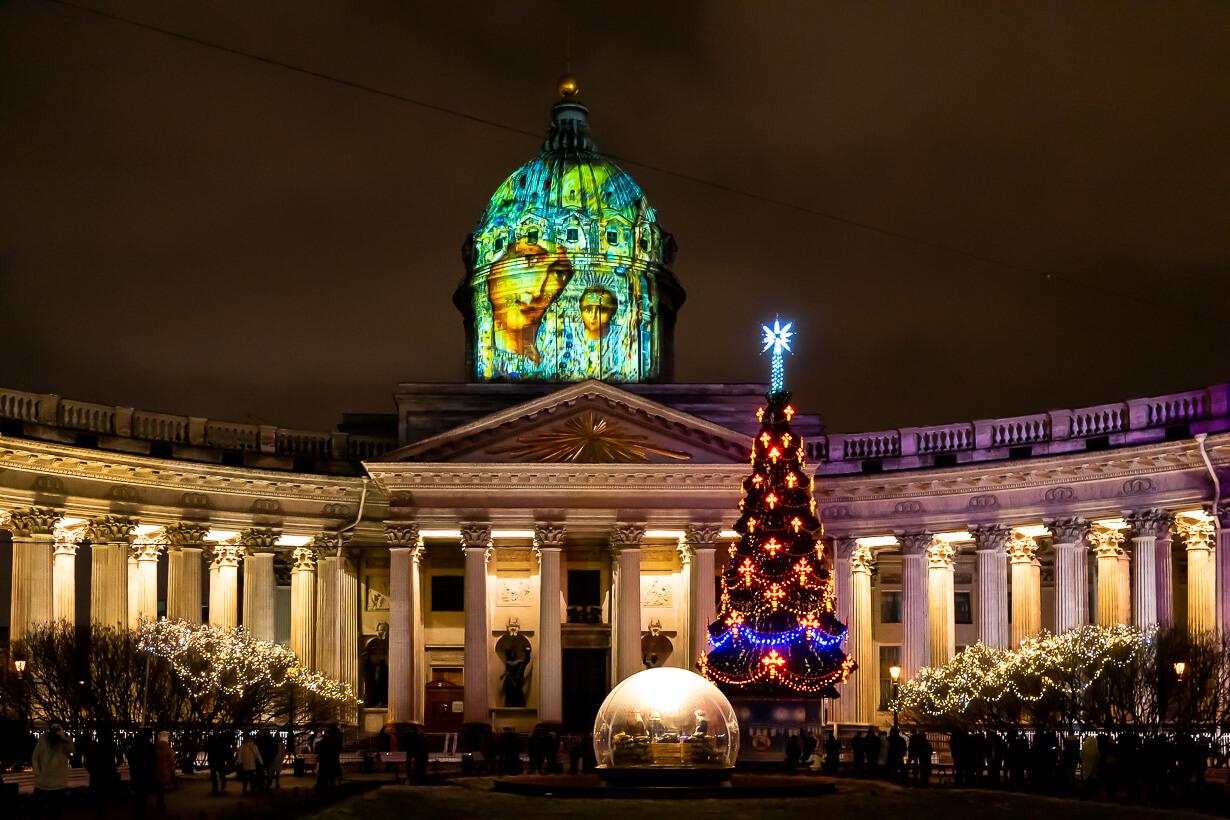 Uusivuosi Pietarissa, Kazanin katedraali