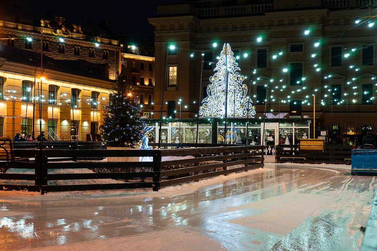 Luistelurata PIetarin joulumarkkinoilla