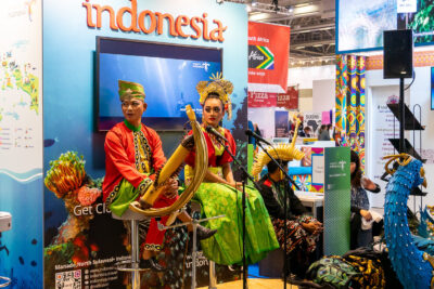 Indonesian osasto matkamessuilla