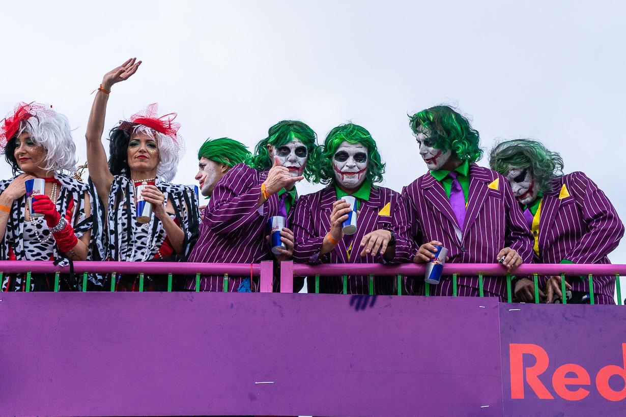 Las Palmasin karnevaalien 2020 suuri kulkue, jokerit