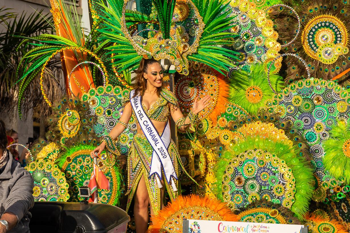 Las Palmasin karnevaalien kuningattaren 2. perintöprinsessa.