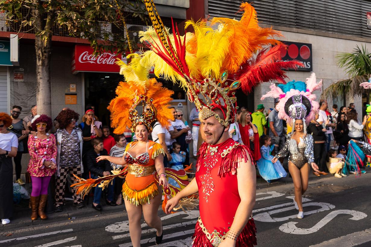 Las Palmasin karnevaalien 2020 suuri kulkue, miestanssija