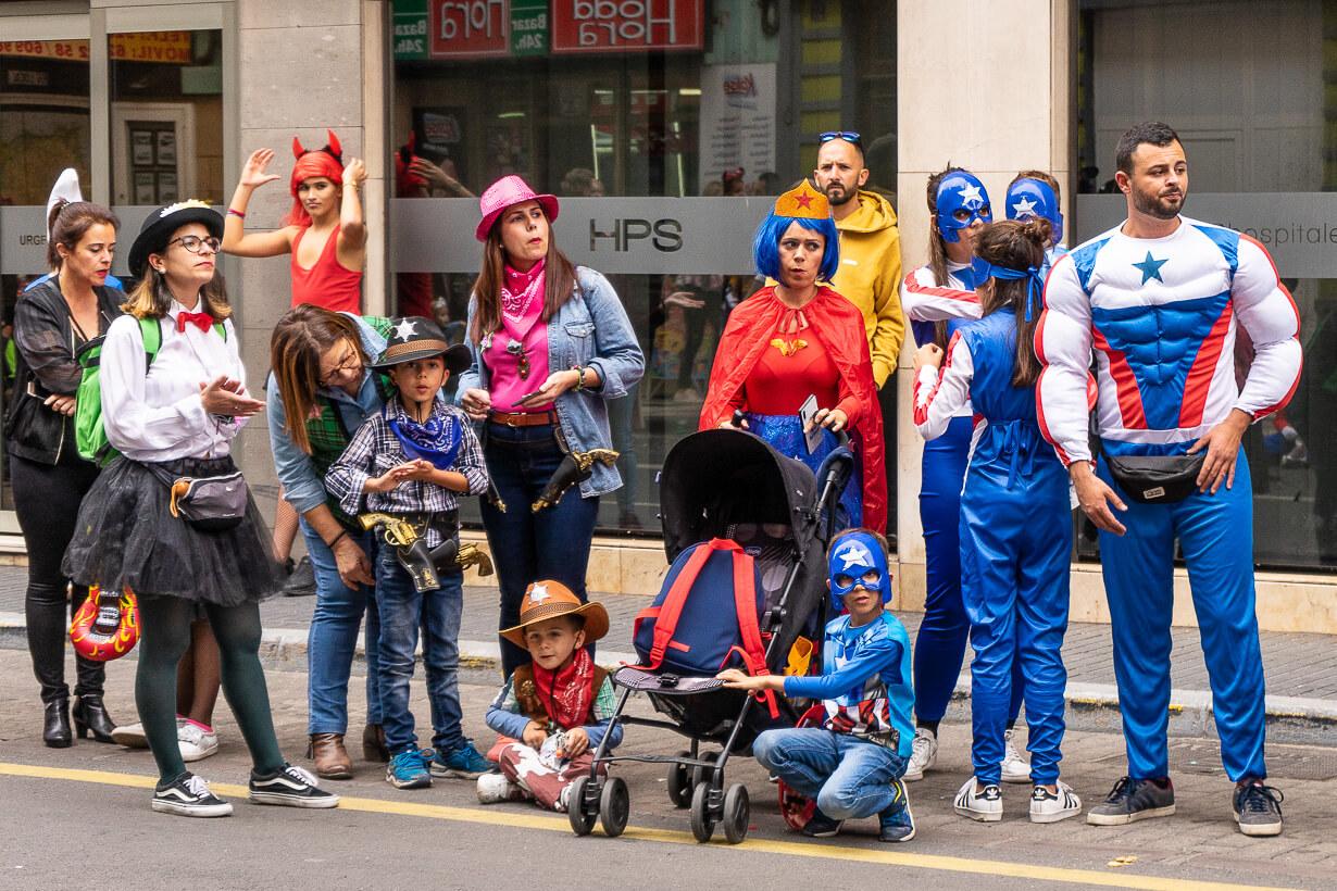 Las Palmasin karnevaalien 2020 lasten kulkue