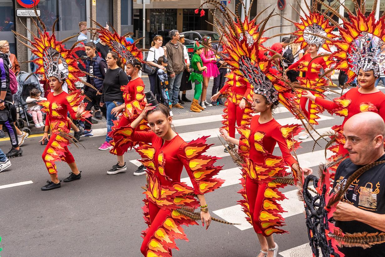 Las Palmasin karnevaalien 2020 lasten paraati