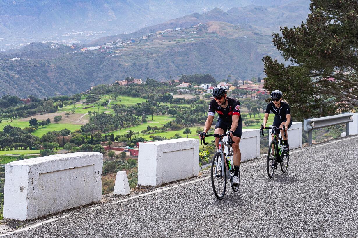 Pico de Bandamalla saapuvat pyöräilijät, Gran Canaria