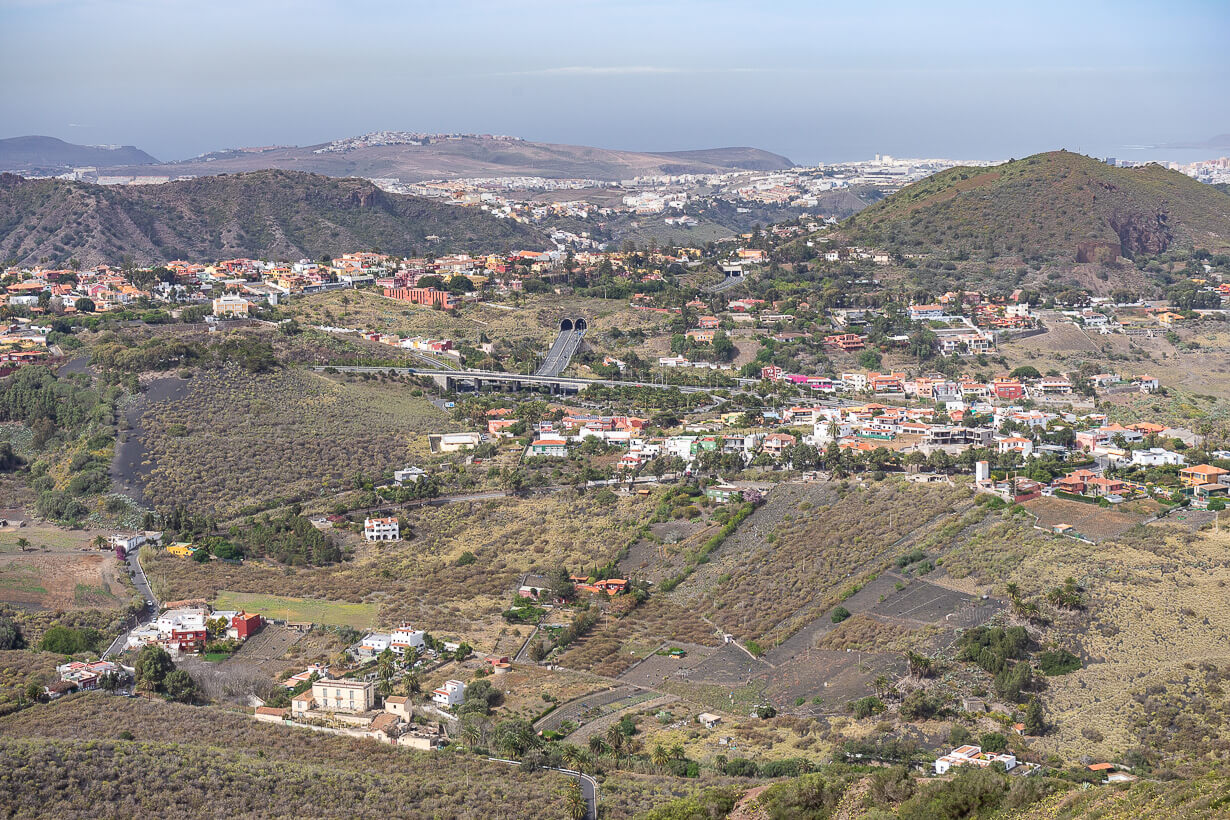 Näkymä kohti Gran Canarian pohjoisrannikkoa.