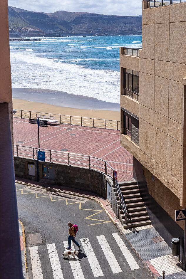 Apartamentos Bañosol, Las Palmas de Gran Canaria, näkymä parvekkeelta