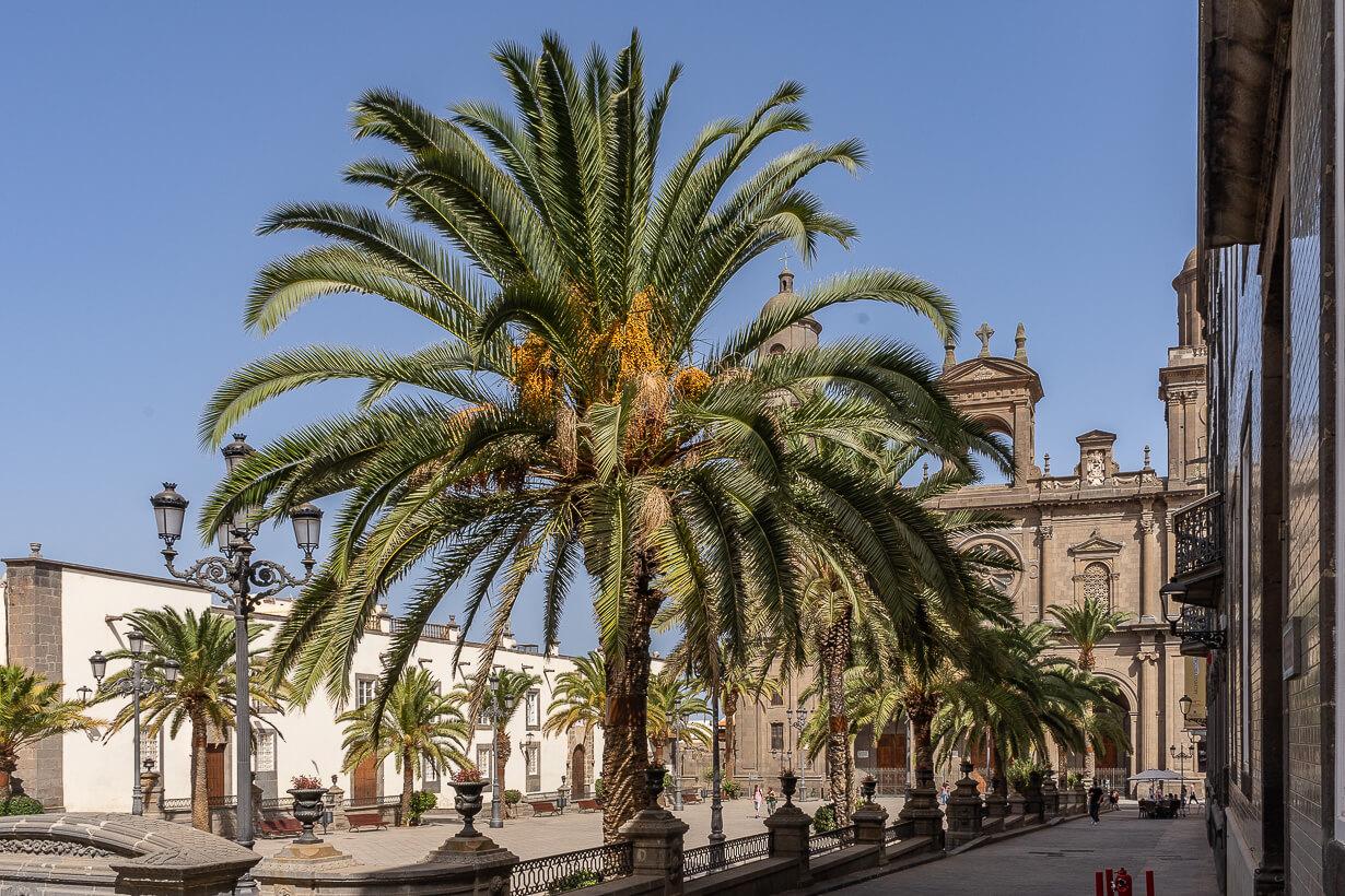 Santa Anan aukio Castillo-kadulta katsottuna, Vegueta, Las Palmas.
