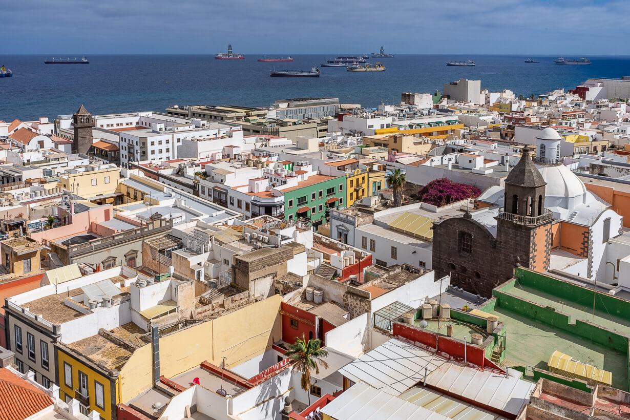 Vegueta Las Palmasin katedraalin tornista katsottuna.
