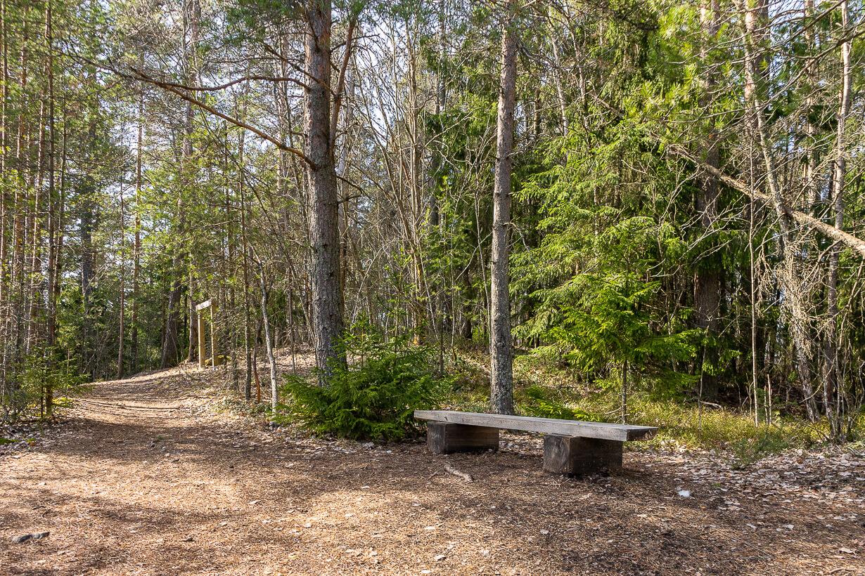 Näköalapaikka Maatiaisharjun luontopolulla Nokialla