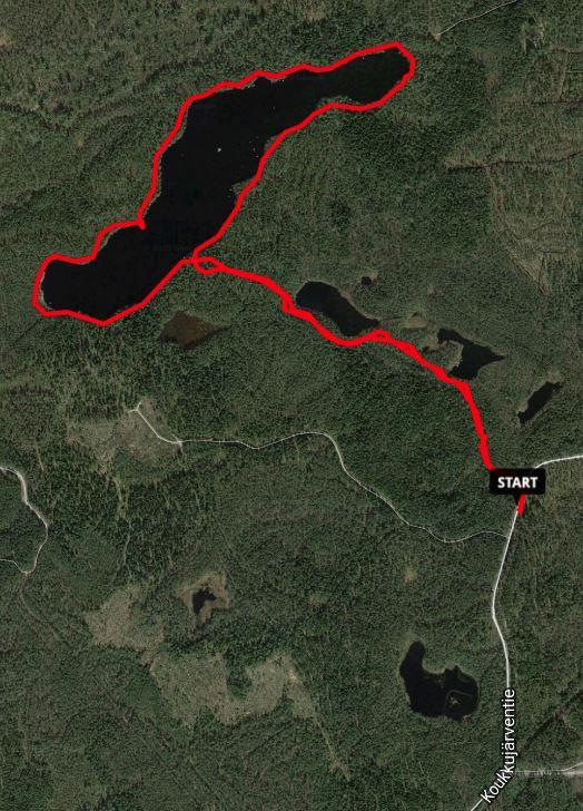 Kivikeskujärven luontopolku ja Sports Tracker, Nokia