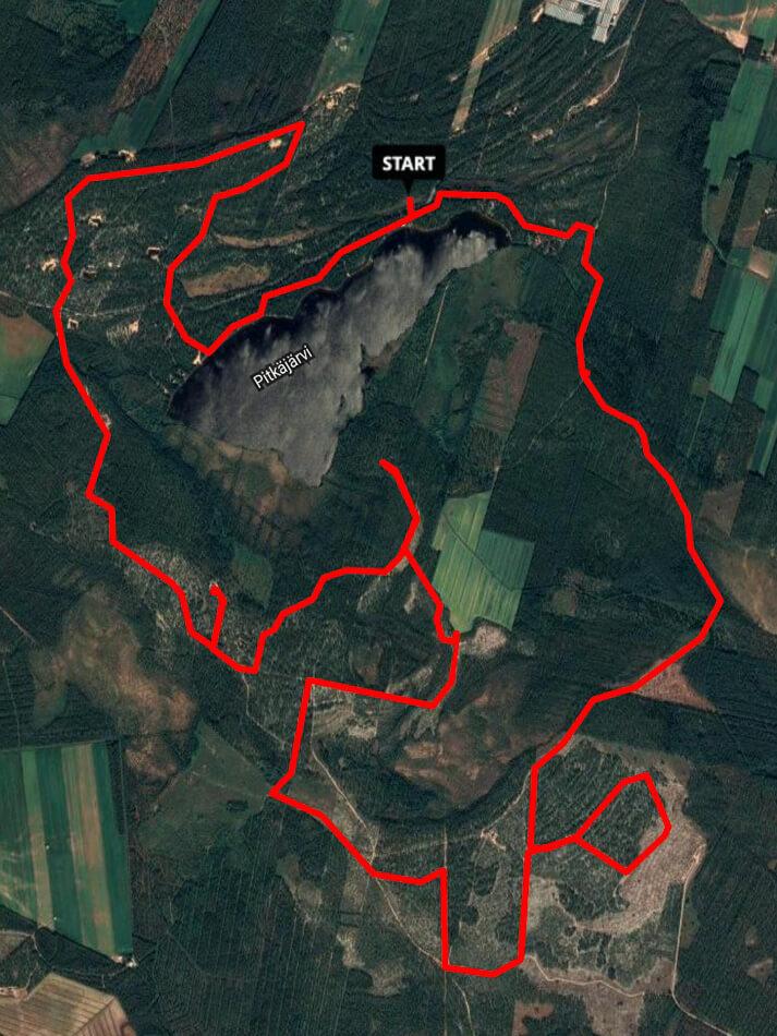 Sports Tracker Pitkäjärven patikointi