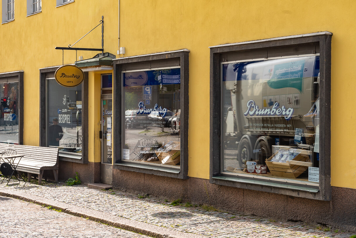 Brunbergin myymälä, Vanha Porvoo