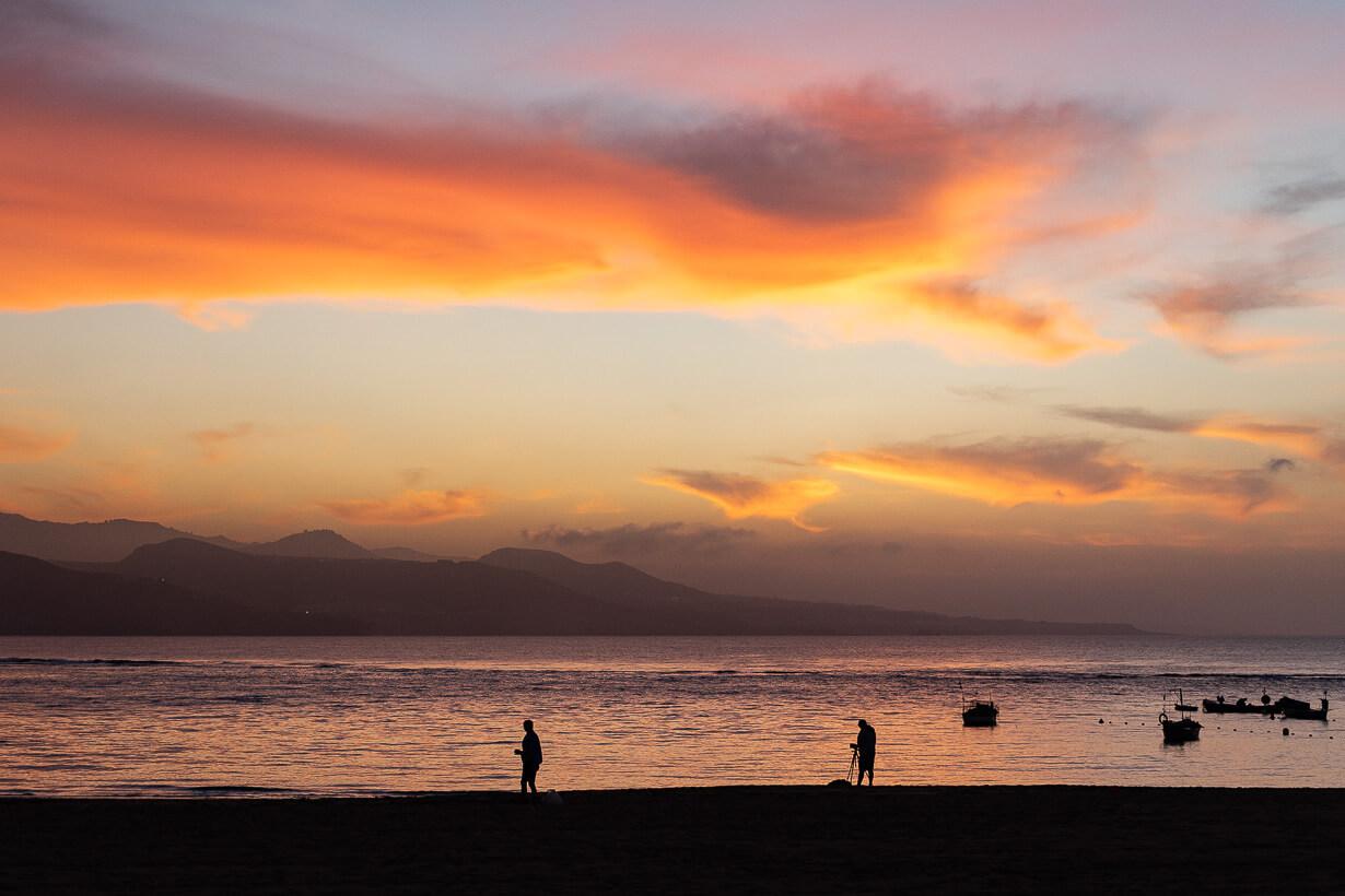 Las Palmasin auringonlasku