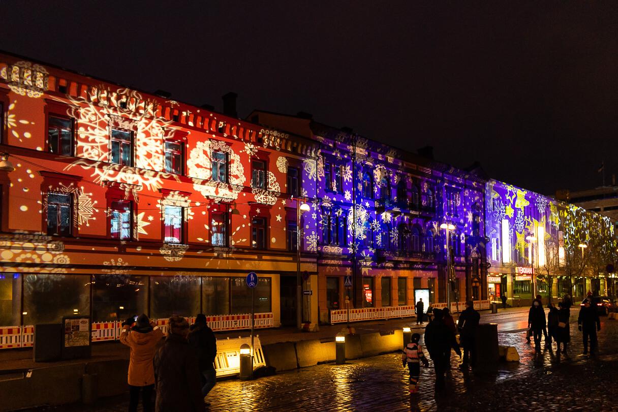 Tampereen jouluvalot 2020, Aleksis Kiven katu
