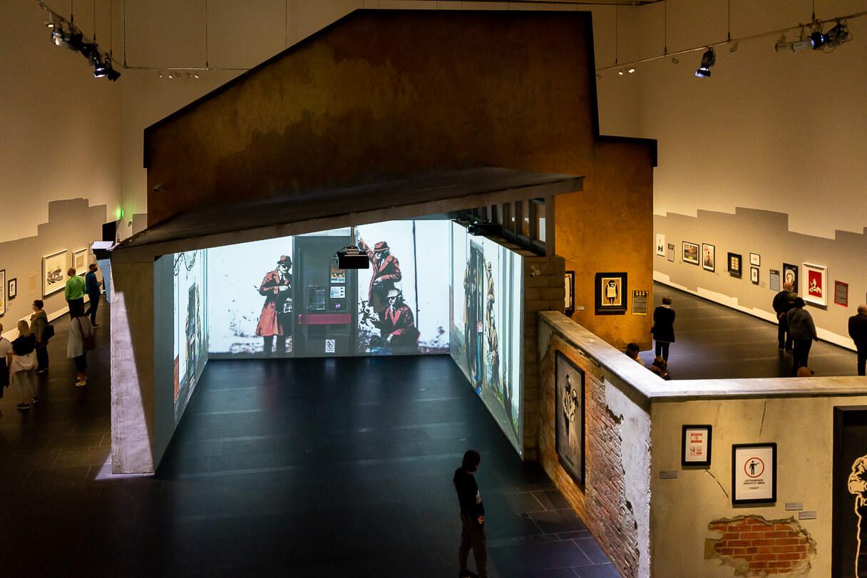 Banksy-näyttely Serlachius-museoisssa.