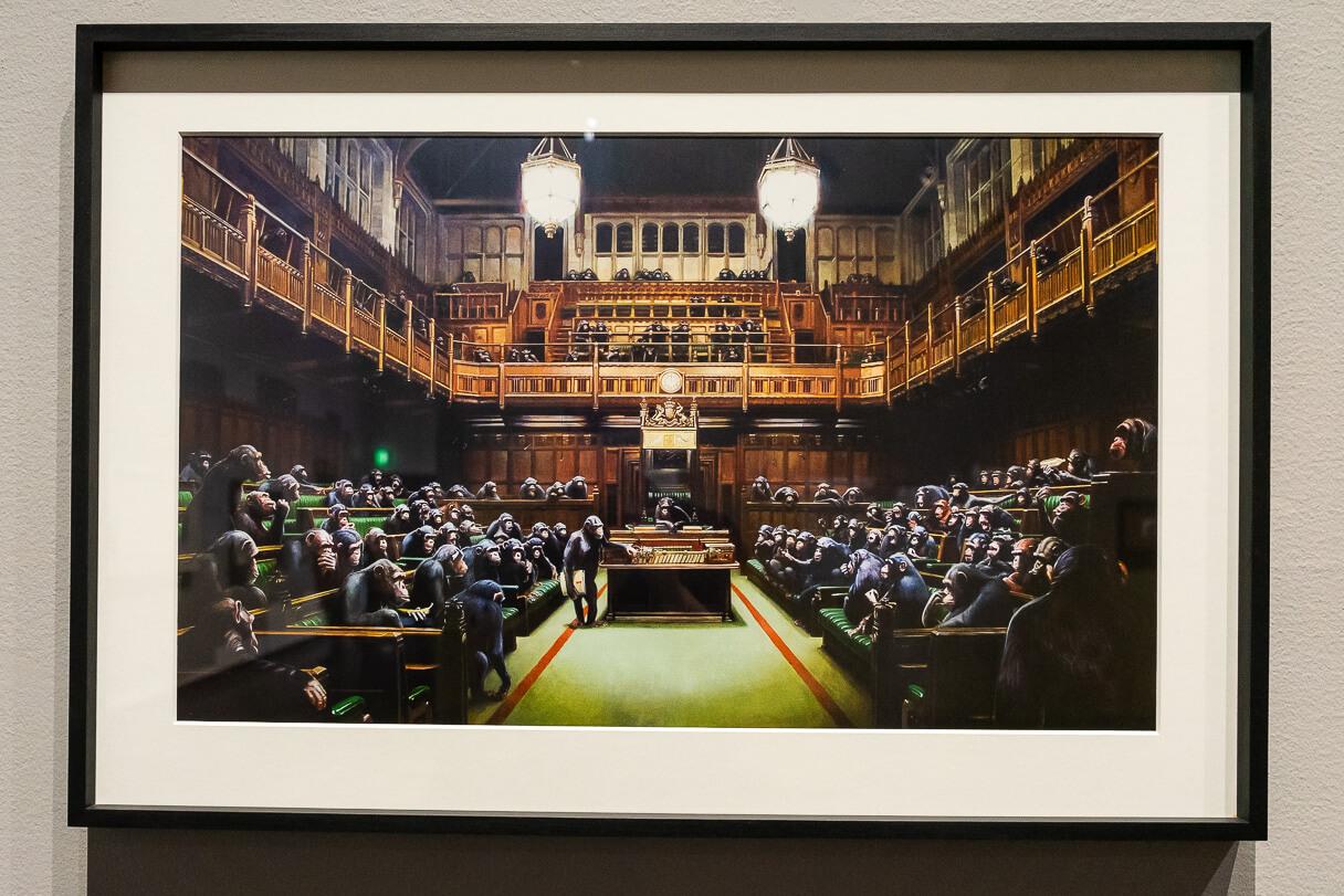 Banksy vs. Bristol Museum: Parliament (2009).