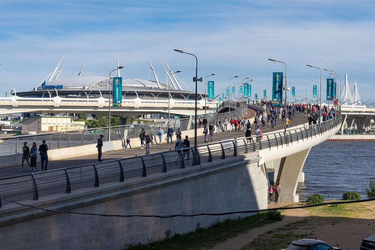 Pietarin jalkapallostadion Gasprom arena.